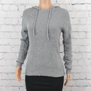 Vici grey knit hooded sweater